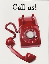 """*Postcard--CALL US!!--""""The Classic Red Rotary Telephone"""""""