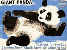 TRAVEL TOURISM TRANSPORT LONDON ZOO GIANT PANDA SUBWAY METRO UK POSTER LV4283