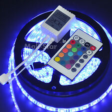 5050 RGB Waterproof IP65 SMD 5M 300LED Strip Light + 24 Key IR Remote Controller