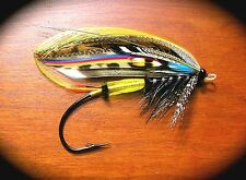 "3.25"" Fully Dressed Dyed Swan Salmon fly art Sticker / decal. Fly tying fishing"