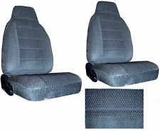 Scottsdale Fabric Charcoal Blue 2 High Back Bucket Car Seat Covers sc-906-cc-7