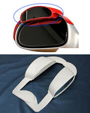 Super Aero Visor Side View Blind Spot Mirror Rain Blower White For Universal Car