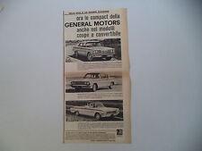 advertising Pubblicità 1961 PONTIAC TEMPEST/BUICK SPECIAL/OLDSMOBILE F 85