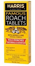 Harris HRT6 Famous Roach Killer Tablets Contains  100 Tablets with Boric Acid &