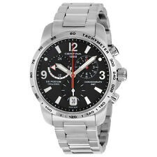 Certina DS Podium GMT Black Dial Stainless Steel Mens Quartz Watch