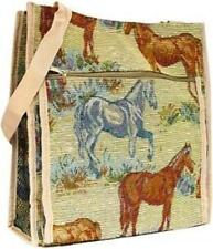 Horse Print Tapestry Tote Bag New With Tags In Package