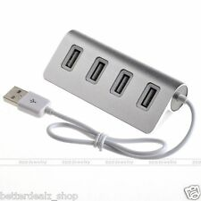 New High Speed 4-Port USB 2.0 Hub Aluminum Cable For PC Laptop Notebook Macbook