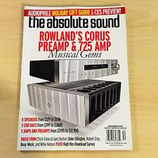 The Absolute Sound Issue 228, 2012 TAS Music Jeff Rowland CORUS 725 Review