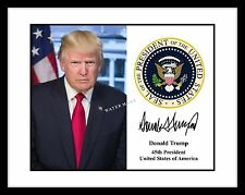 President Donald Trump Signed Presidential Seal Autograph 4x6 Photo Print USA