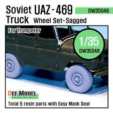 DEF.MODEL, Soviet UAZ-469 Sagged Wheel set (for Trumpeter), DW35048
