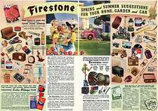 1942 Firestone Farm Tire Home And Auto Supply Store 2 Page Print Ad