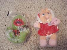 """Vintage 1988 McDonald's Muppets 8"""" plush Kermit Miss Piggy Happy Meal  MINT tags"""