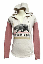 NEW BILLABONG WOMENS FRENCH TERRY PULLOVER SWEATSHIRT HOODIE HOODED TOP SHIRT L
