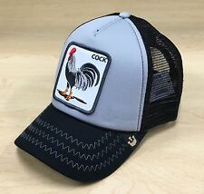 Goorin Bros Checkin Traps Gallo Rooster Trucker Hat Cap Grey