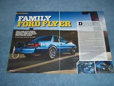 "1988 Mustang LX Fox Body Turbo Drag Car Article ""Family Ford Flyer"""