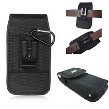 XL Large RUGGED Nylon Canvas Pouch Holster Belt Loop Case For LG Tribute 5 , K7