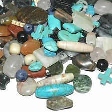 NGL2487f Beautiful Assorted Mixed Color, Shape & Size Gemstone Beads 250-Grams
