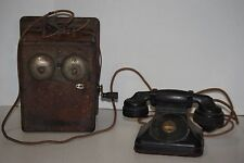 Vintage Stromberg Carlson Telephone Wood Phone Box - Hand Crank - Untested Parts