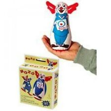 "Original Bozo the Clown Bop Bag Inflatable Punching Toy 7"" Small Desk Size, New"