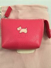 Radley leather Coin Purse Small Time Red 100% Leather