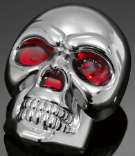 HIGHWAY HAWKILLUMINATED SKULL ORNAMENT WITH LED RED EYES 60MM W 80MM H BC31592 T
