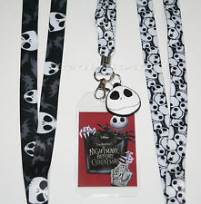 NEW Disney The  Nightmare Before Christmas Jack Lanyard ID Pin Holder JACK Charm