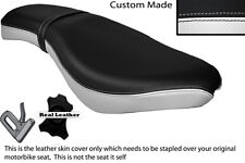 WHITE & BLACK CUSTOM FITS KEEWAY SUPERLIGHT 125 11-13 DUAL LEATHER SEAT COVER