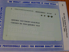 Microscale Decal HO  #MC-4250 Quebec Southern Diesel Dates:1996+