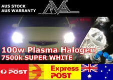 MVA PLUS H7 12v 100w Plasma 7500K Halogen Globes with HD Ceramic Wiring Harness