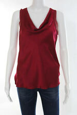Theory Dark Pink Silk Sleeveless Scoop Neck Tank Blouse Size Small New $200