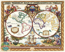 Cross Stitch Kit ~ Janlynn Olde World Map Ancient Nautical World #015-0223