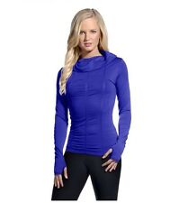 NEW WOMENS MPG LONG SLEEVE SEAMLESS COSMO COWL NECK TOP XS/S