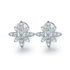 14K White Gold Engagement Wedding Natural South Africa Diamond Stud Earrings