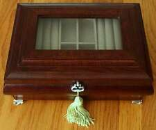 Wooden Glass View Musical Jewelry Box by San Francisco Music Box Co.