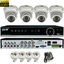 CIB True HD 8CH 1080P DVR system 1TB HDD 4X1080P 2.1MP Metal Vandal Dome Camera
