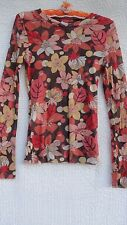 Sweet Pea Knit Top Misses L Coral Orange Yellow Stacy Frati Project Runway USA