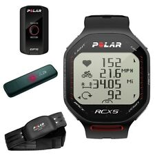 Polar RCX5 HRM Watch, HRM Chest Strap, GPS Edition and Data Transfer Stick