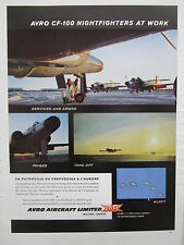 7/1957 PUB AVRO AIRCRAFT AVRO CF-100 CARC ROYAL CANADIAN AIR FORCE FRENCH AD