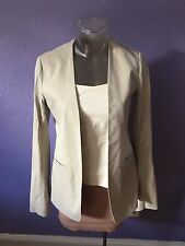 THEORY $415 Isita Open Front Crunch Blazer Jacket XS 0 CASUAL LUXE