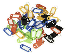 Multi Colour Key Cabinet SAFE 50 Tags KEYS KEYRINGS BLANKS FOR WRITING WITH RING