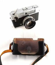 VINTAGE KONICA AUTO S CAMERA WITH LEATHER CASE & HEXANON