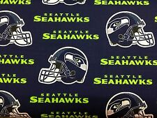 """SEATTLE SEAHAWKS NFL 60"""" Cotton Fabric BTY Fabric Traditions B"""