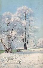 VINTAGE NEW YEARS EVE GREETING POSTCARD - Meilleurs Voeux pour la Nouvelle Année