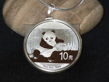 .925 STERLING SILVER ~ BEZEL WITH BALE ~ FITS 1~OZ SILVER  CHINA  PANDA ~ $26.88