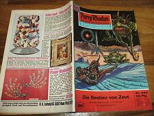 PERRY RHODAN  # 442 -- BESTIEN von ZEUT / 1. Aufl. 1970+Reklame für GUCKY-Figur