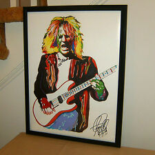 C.C. DeVille, Poison, Guitar Player, Guitarist, Glam Rock, 18x24 POSTER w/COA