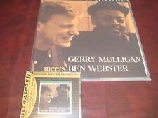 GERRY MULLIGAN MEETS BEN WEBSTER MFSL RARE 200 GRAM NUMBERED LIMITED LP + 24KCD