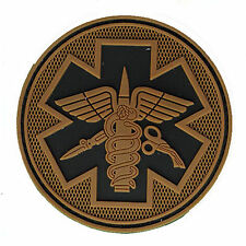 Red Cross Hook Patches RESCUER GEAR MEDICAL TREATMENT 3D PVC Morale Badge Patch