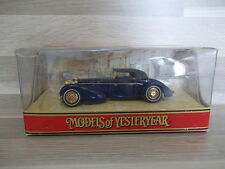 Matchbox Models of Yesteryear YY017A/D Hispano Suiza 1938 dark blue Sp Ed