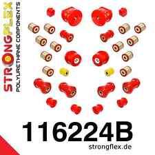 PU Buchsensatz (30-teiliger !) für Mercedes Benz 190 W201 StrongFlex 80ShA rot
